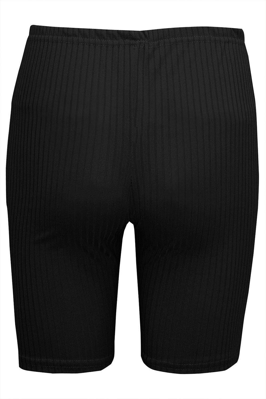 Femmes Extensible Activewear Côtelé Danse Cyclisme fine Hot Pant Gym Short