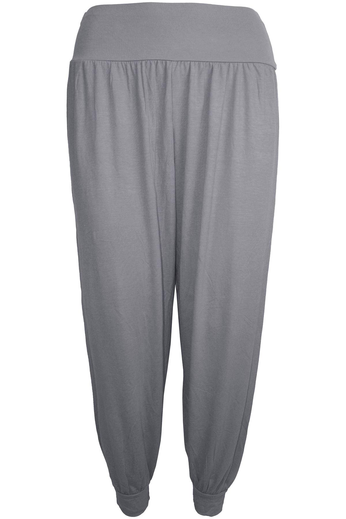 Grande Taille Femme Baggy Harem Ali Baba Pleine Longueur Pantalon Leggings Pantalon