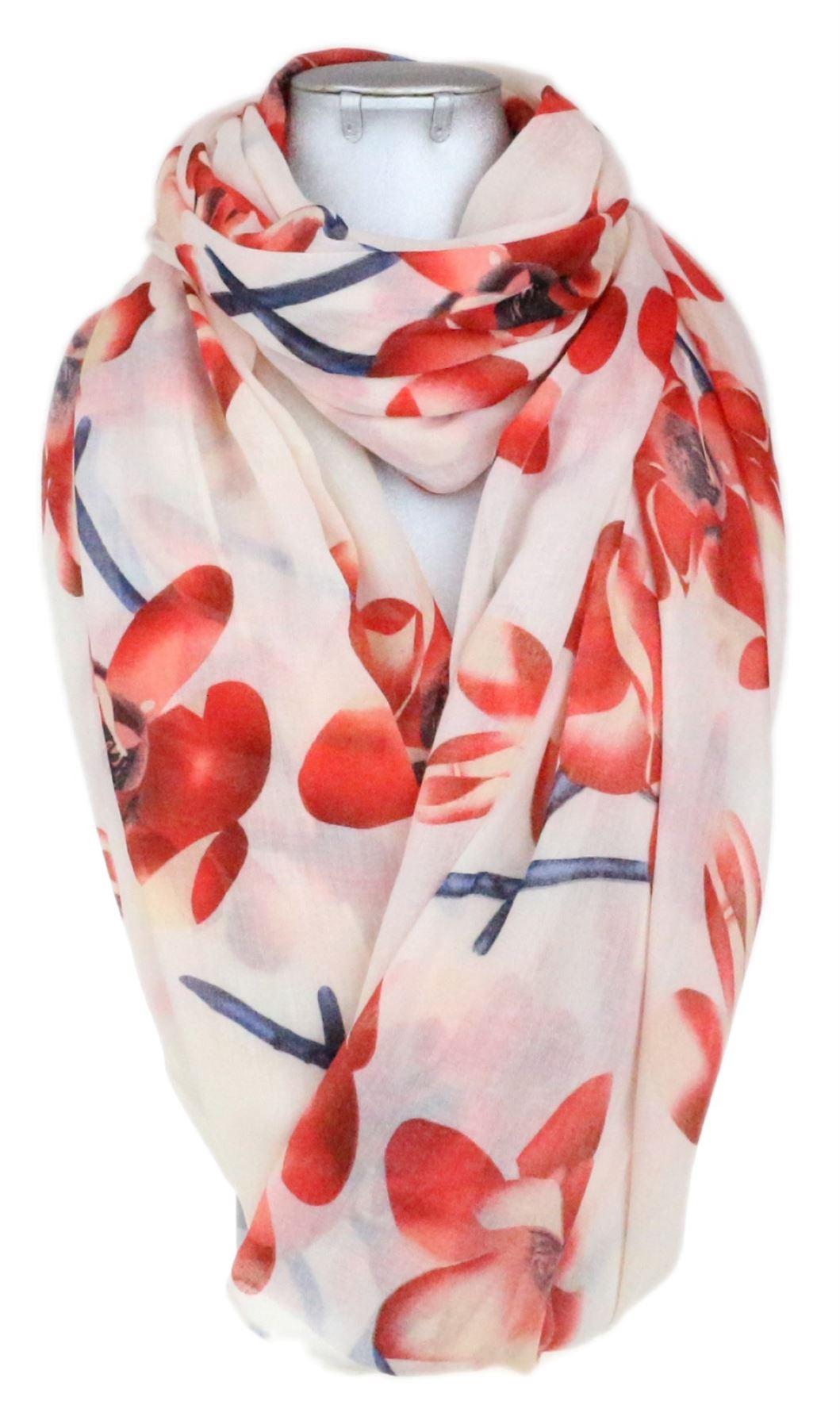FIORI di magnolia Donna Sciarpa Floreale Vintage Grande Scialle pareo Wrap