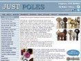 JUSTPOLES- Curtain poles and Curtain Tracks Logo