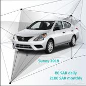 Nissan Sunny 2018 for rent