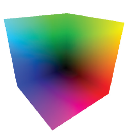rainbow back face of volume