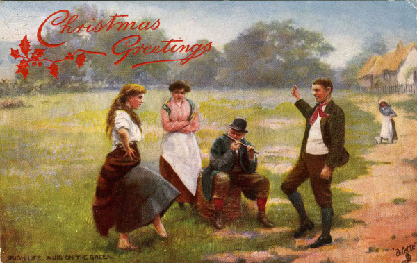 Christmas greetings irish life a jig on the green unidentified