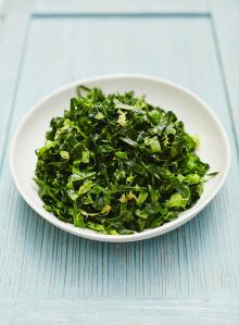 Simple lemony spring greens