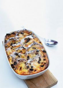 Bun and butter pudding