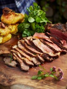 The ultimate steak & vinegar roasties