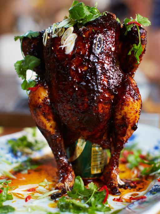 Sweet & spicy beer can chicken   Jamie Oliver   Food   Jamie Oliver ...