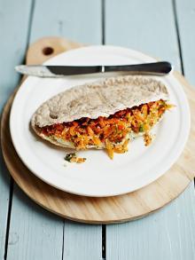 Crunchy carrot pittas