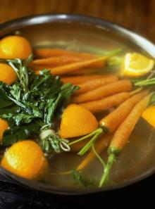 Carrots with thyme, cumin and orange butter