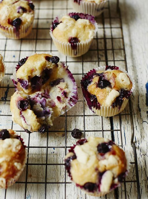 Gluten free chocolate and blueberry muffins