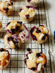 Gluten-free chocolate & blueberry muffins