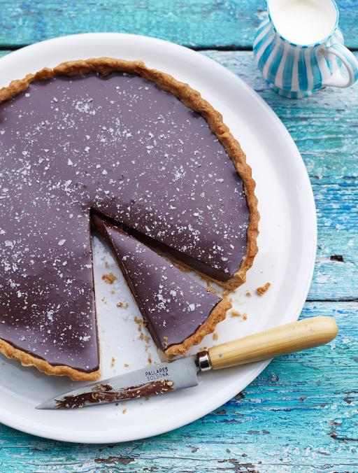 Rich chocolate tart with salt flakes | Jamie Oliver | Food | Jamie ...