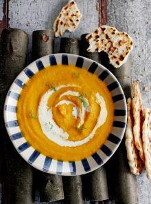 Roast carrot & fennel soup