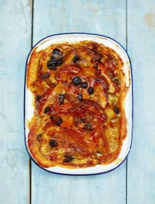 Vegan bread & butter pudding
