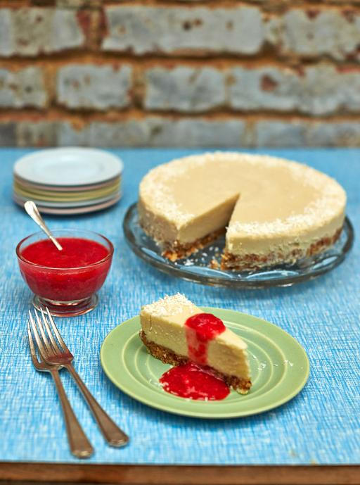 Dairy free coconut cheesecake