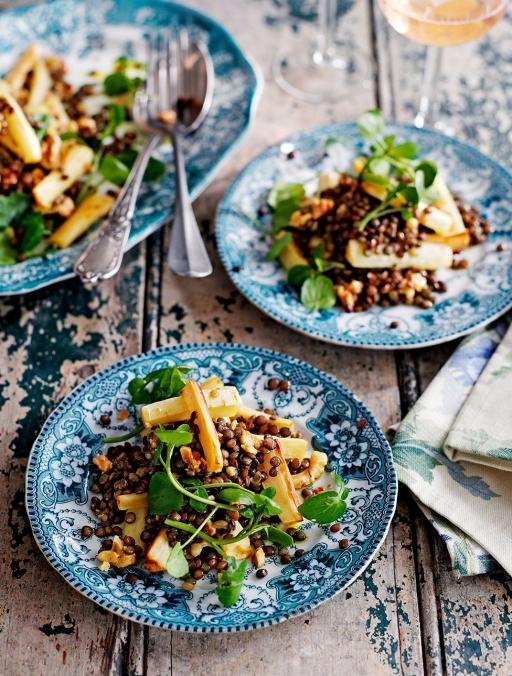Puy Lentil, Parsnip & Walnut Salad