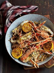 Langoustines with lemon & pepper butter