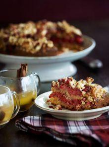 Cranachan raspberry cake