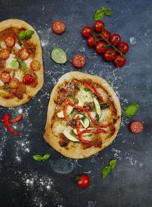 Gennaro's mini pizzas with hidden veg sauce