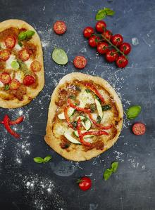 Gennaro's mini pizzas with hidden veg sauce