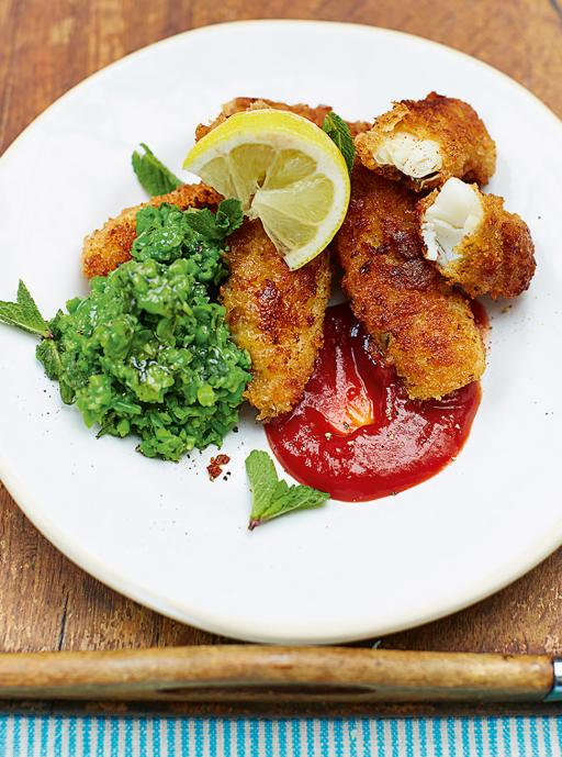 Homemade fish fingers family food jamie oliver for Homemade fish food