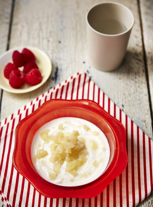 Helen's poached pears with Greek yoghurt