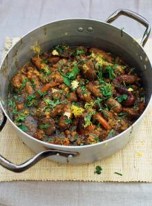 Dark, sticky stew