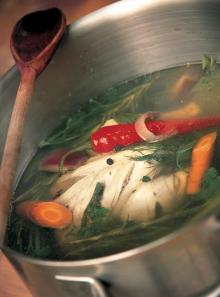 Easy chicken stock