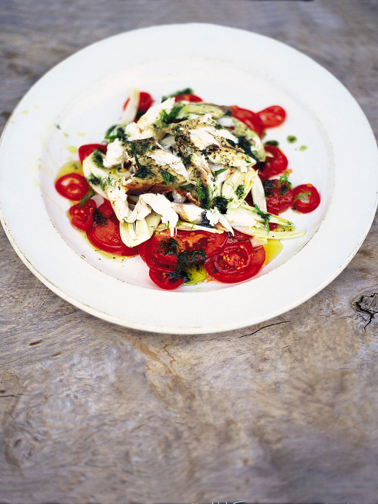 Fish Salad with Fennel and Tomato