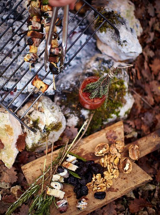 rosemary prune skewers