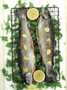Grandad Ken's crispy grilled trout with parsley and lemon