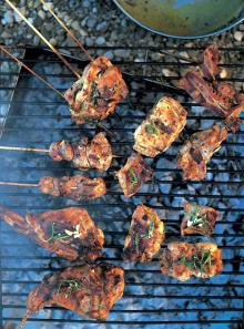 Grilled and marinated rabbit (Coniglio marinato alla griglia)