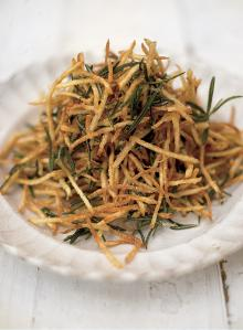 April's rosemary straw potatoes with lemon salt