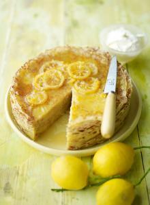 Lemon crêpe cake