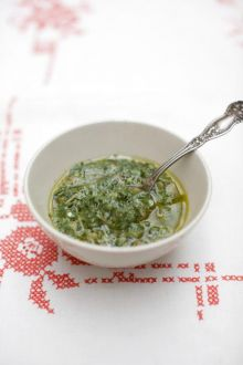 Mixed herb salsa verde