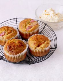 Mother's Day rhubarb and ginger muffins