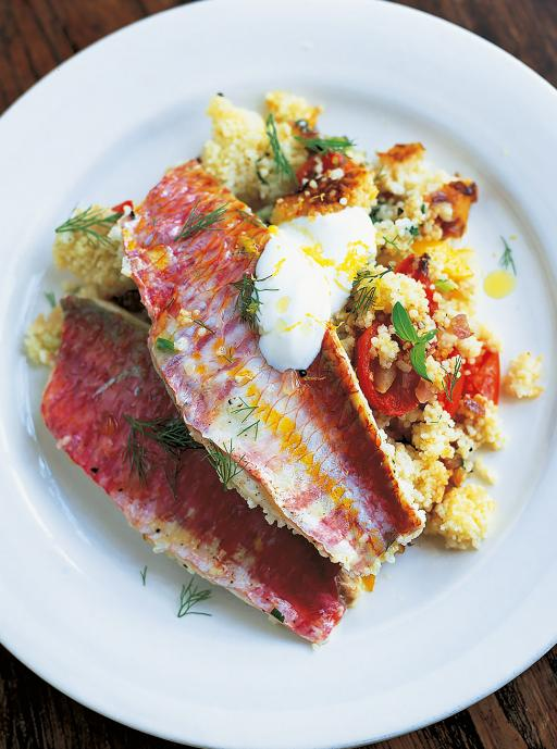 red mullet and sardines