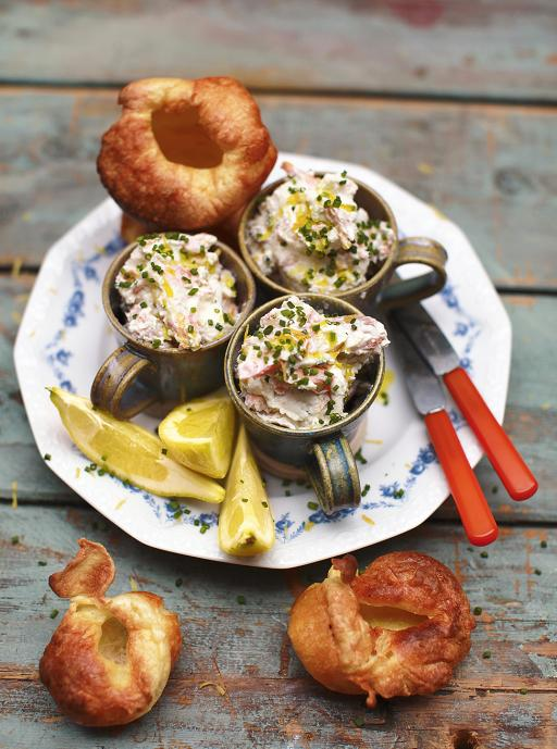 Smoked Trout Pate with Horseradish and Yorkshire Puddings