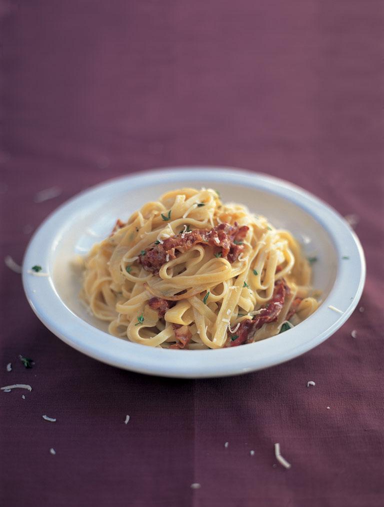 Parsnip & pancetta tagliatelle with parmesan & butter