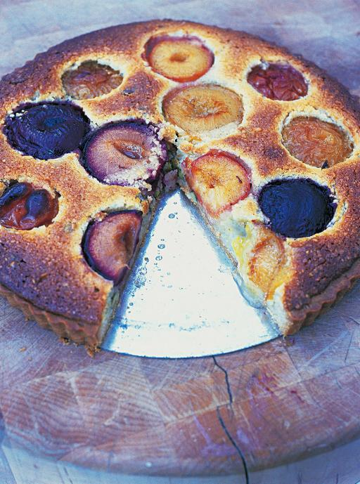 plum and almond tart