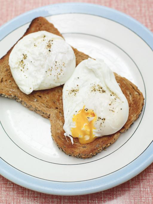 Poached eggs on granary toast