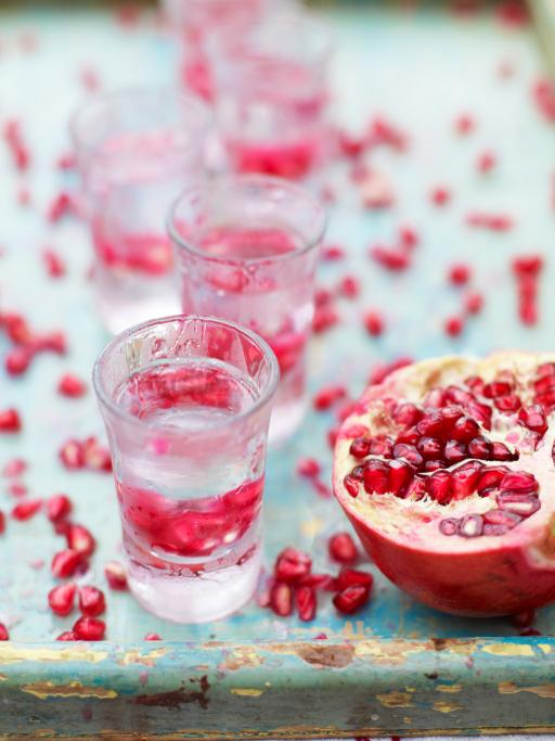 pomegranate shots