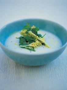 Potato, celeriac and truffle oil soup