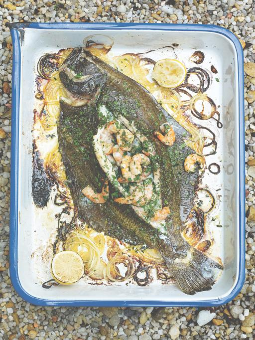 stuffed flatfish