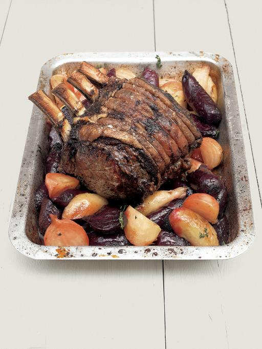rib of beef with beetroot and horseradish recipe
