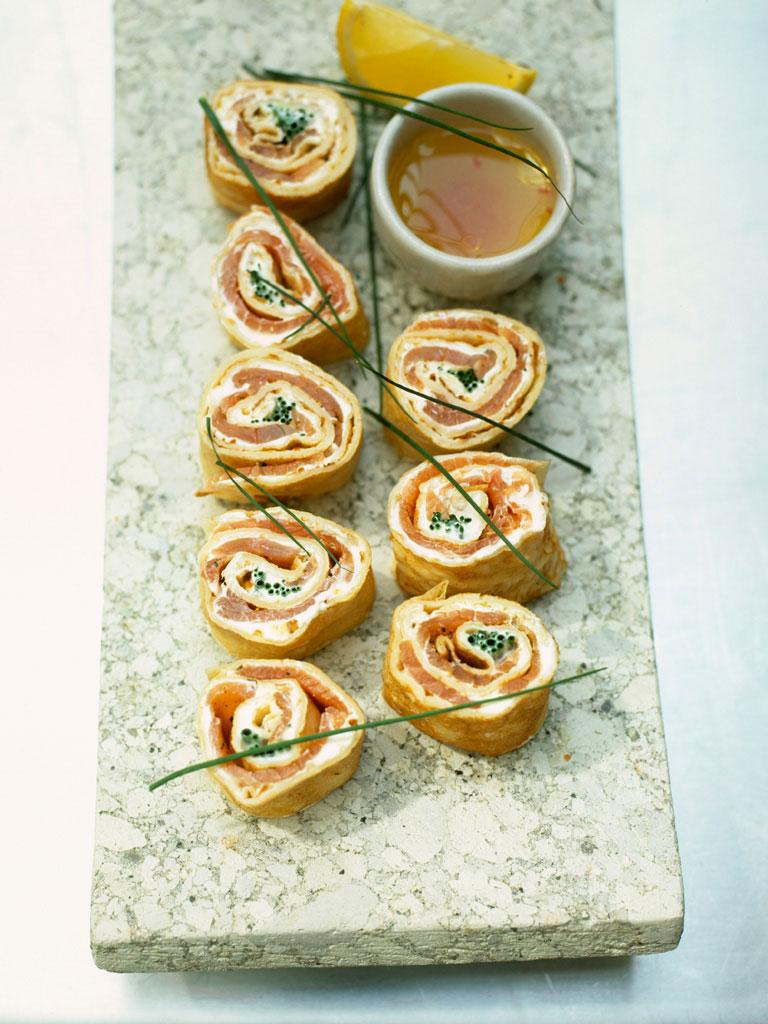 Smoked Salmon Rolls | Fish Recipes | Jamie Oliver Recipes