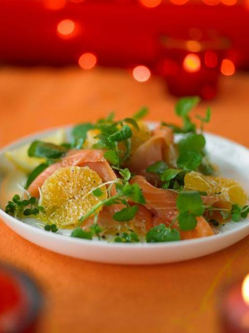 Smoked Salmon with Clementine's