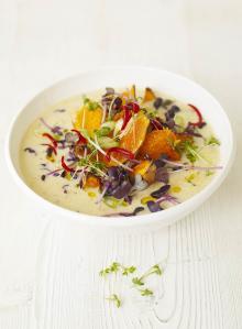 Squash laksa soup
