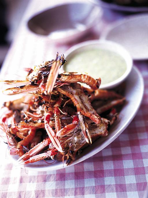 barbecued langoustines
