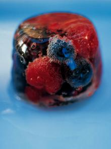 Summer fruit, elderflower and Prosecco jelly